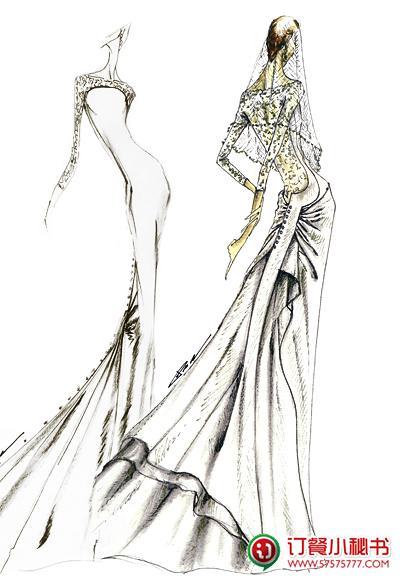 《暮光之城4破晓》贝拉礼服设计稿曝光