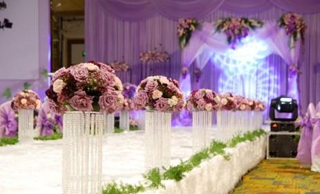 粉色婚庆布置效果图