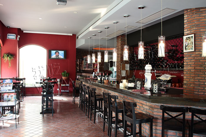 小饭店酒水吧台设计