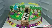森林小屋创意烘焙 图片
